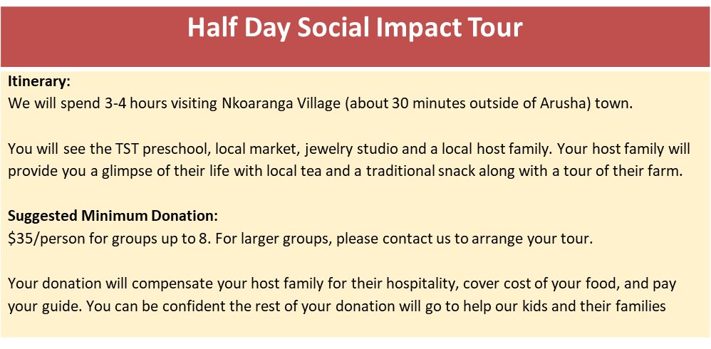 Get Involved - Visit Tanzania, Join a Social Impact Tour